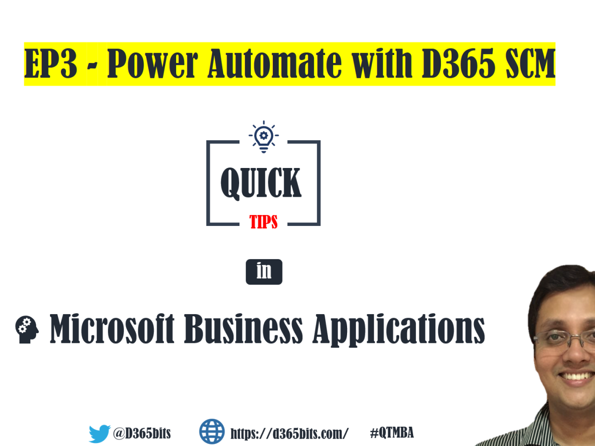 EP3- Power Automate with 365 SCM