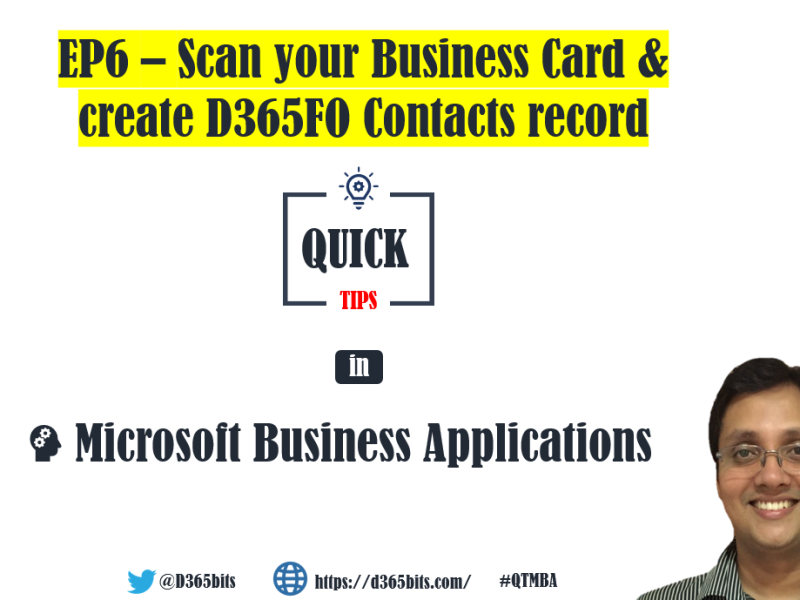 D365FO and Business Card Reader , AI Builder