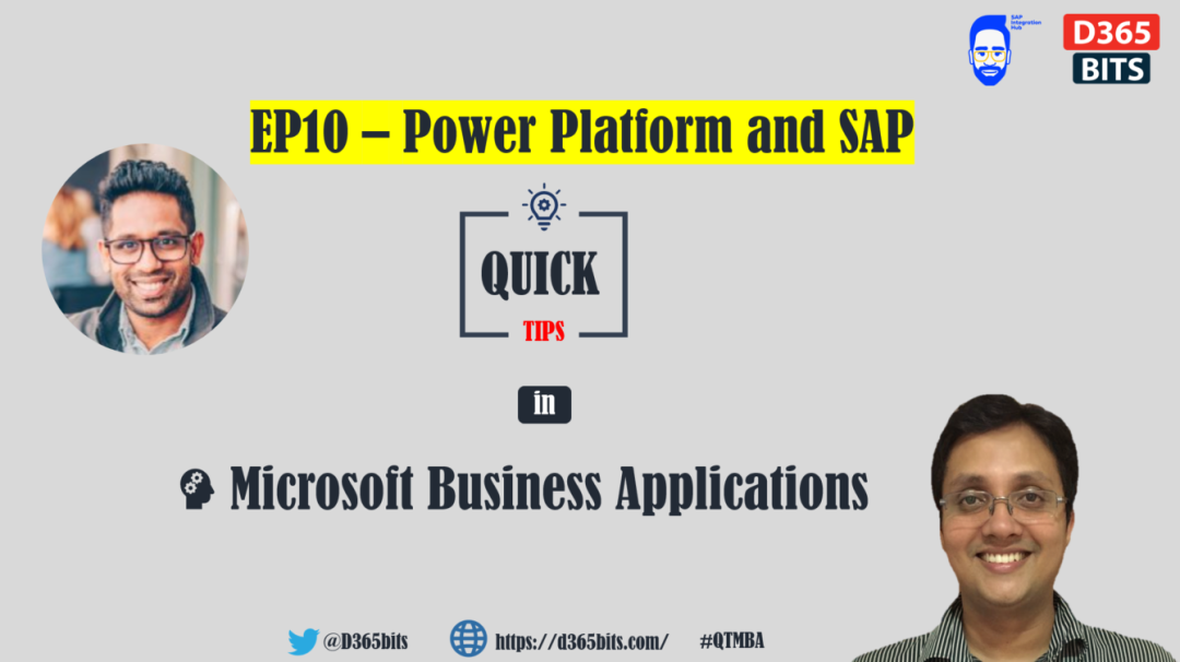 Power Platform and SAP QTMBA-EP10