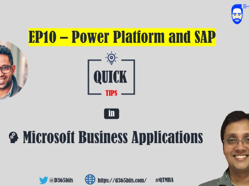 Power Platform and SAP QTMBA-EP10
